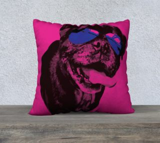 It's a Pug Life Fuchsia Pillow  preview