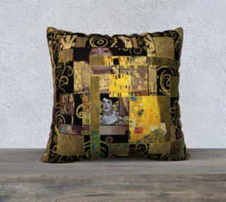 Black Gold Klimt Pillow preview