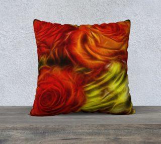 Red velvety roses pillow case preview