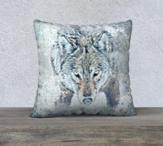 """Snow Wolf 22"""" x 22"""" Pillow Case preview"""
