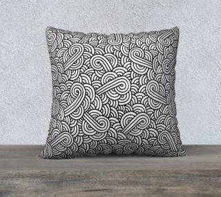 Black and white swirls doodles 22 x 22 Pillow Case preview