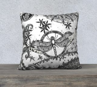 CANDICE DRAGONFLY DECORATIVE PILLOWCASE preview