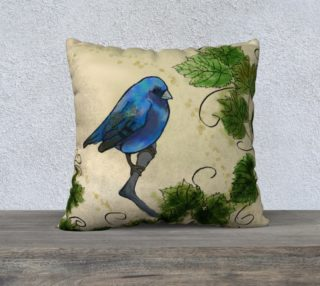 Blue Bird & Leaves preview