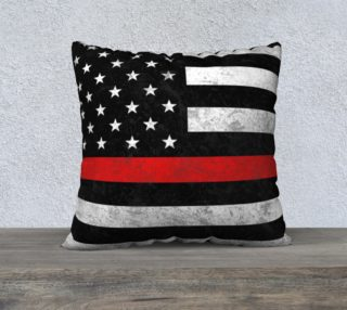 Thin Red Line Pillow Cover preview