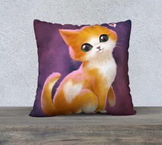 Aperçu de Valentine cat - Pillow