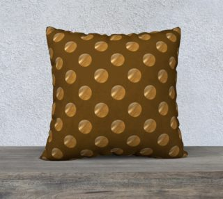 Aperçu de Polka dots golden seamless pattern