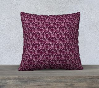Aperçu de Abstract circles purple seamless pattern