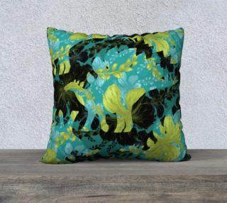 Aperçu de Jurassic Pillow - Teal & Chartreuse