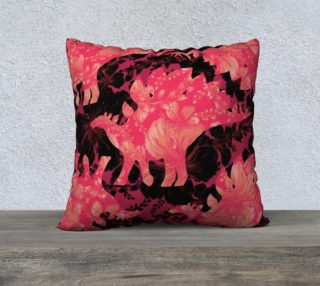 Jurassic Pillow - Pink & Black preview