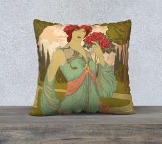 """Aperçu de Art Nouveau 22"""" x 22"""" Pillow Case"""