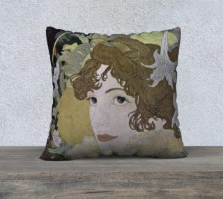Aperçu de Art Nouveau lady Pillow Case