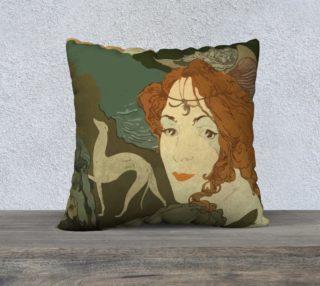 """Art Nouveau lady 22"""" x 22"""" Pillow Case preview"""