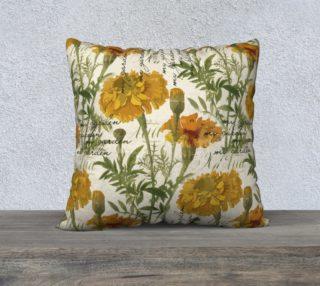 """Aperçu de Vintage marigolds 22"""" x 22"""" Pillow Case"""