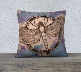Dragonfly Watercolor Batik Pillowcase preview