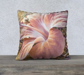 Fantasy Colors Hibiscus Flower Digital Photography Print Pillow preview