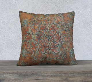 Flower of Life Transforming Floral 22x22 Pillow Case preview