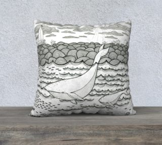 Whale pillow preview