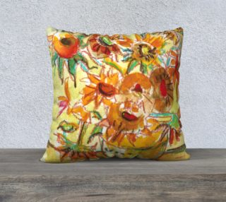 Sunflowers Pillow preview