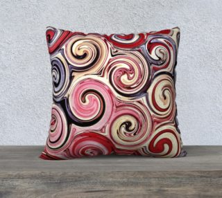 Swirl Me Pretty Pink Red Blue Throw Pillow Cover preview