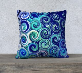 Blue Swirls Accent Throw Pillow Cover preview