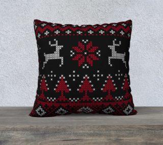 Aperçu de Scandinavian Christmas Ugly Sweater Reindeer