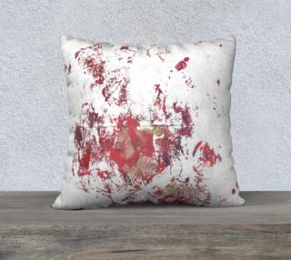 abstract reds 22 x 22 Pillow Case preview