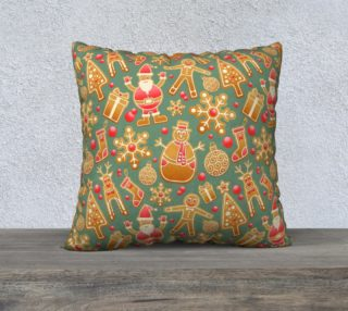 1950 Vintage Gingerbread Christmas 22x22 Pillow Case preview