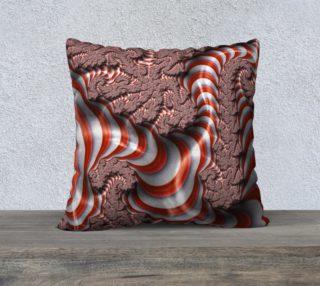 Candy Cane Fractal 22x22 Pillow Case preview