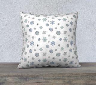 "Snowflakes Pillow Case - 22""x22"" preview"
