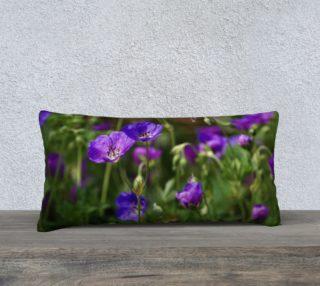 Purple Cranesbill 24x12 Pillow Case preview