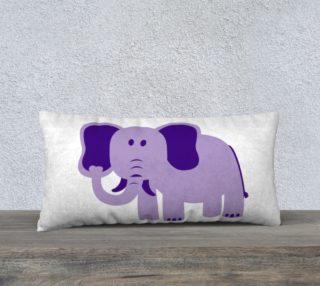 Purple Elephant Pillow Case 24x12 preview