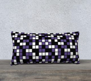 Aperçu de Ultra Violet Purple, Black, and White Random Mosaic Squares