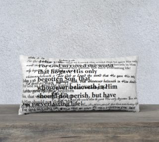 Aperçu de John 3:16 Knee Pillow