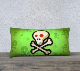 Cartoon Skull On Green 24 x 12 Pillow Case preview