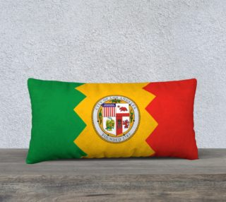 LA Flag Pillow 24 x 12 preview