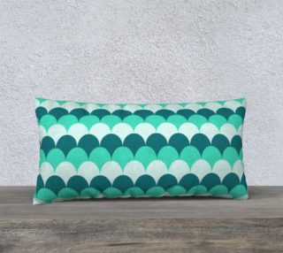 """Mermaid Scales Pillow Case - 24""""x12"""" preview"""