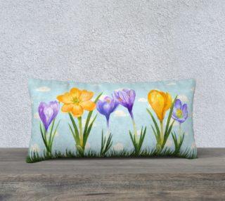 Spring Crocus-Throw Pillow preview