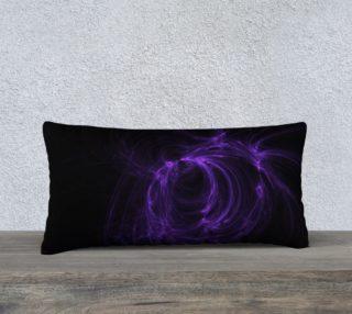 Purple Fractal on Black Pillow Case 24 x 12 preview