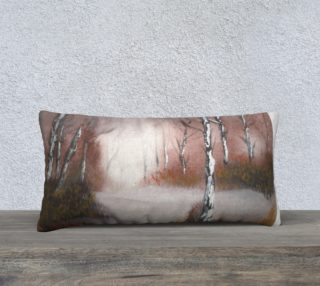 Winter Forest Long Pillow preview