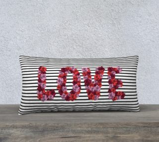 """Blooming Love Pillow Case - 24""""x12"""" preview"""