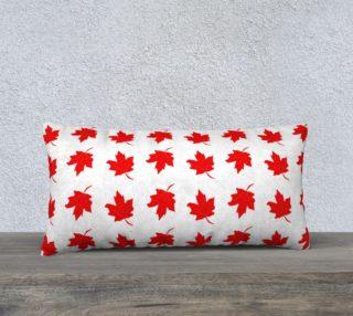 Aperçu de Red Maple Leaf Long Pillow