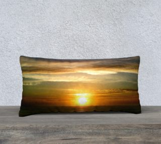24X12 Color Muse Sunrise Art Deco Pillow aperçu