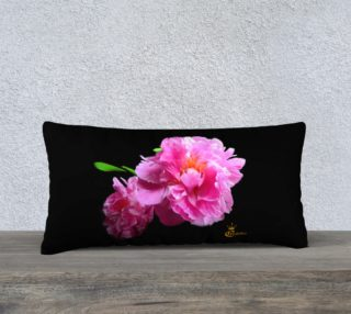 Color Muse Peony  24x12 Art Deco Pillow  Artist Logo preview