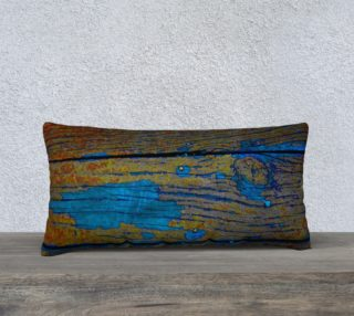 Turquoise Wood 24 x 12 Pillow Case preview