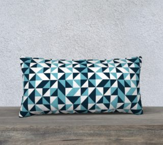 Blue Triangles 24x12 Pillow Case preview