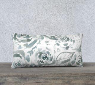 Aperçu de Evelyn Gray Floral Long Pillow