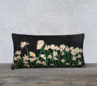 Aperçu de daisies at midnight pillow case