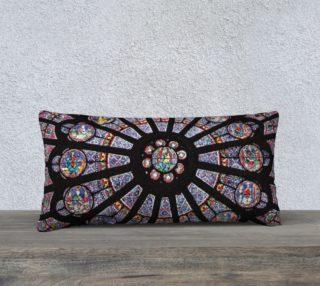 """Rose South Window, Notre Dame Paris 24"""" x 12"""" Decorative Pillow Case preview"""