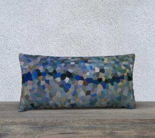 Blue Line Mosaic Pillow Case Rectangle 24 x 12 preview