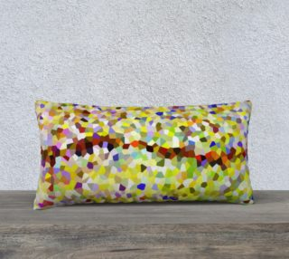 Yellow Line Mosaic Pillow Case Rectangle 24 x 12 preview